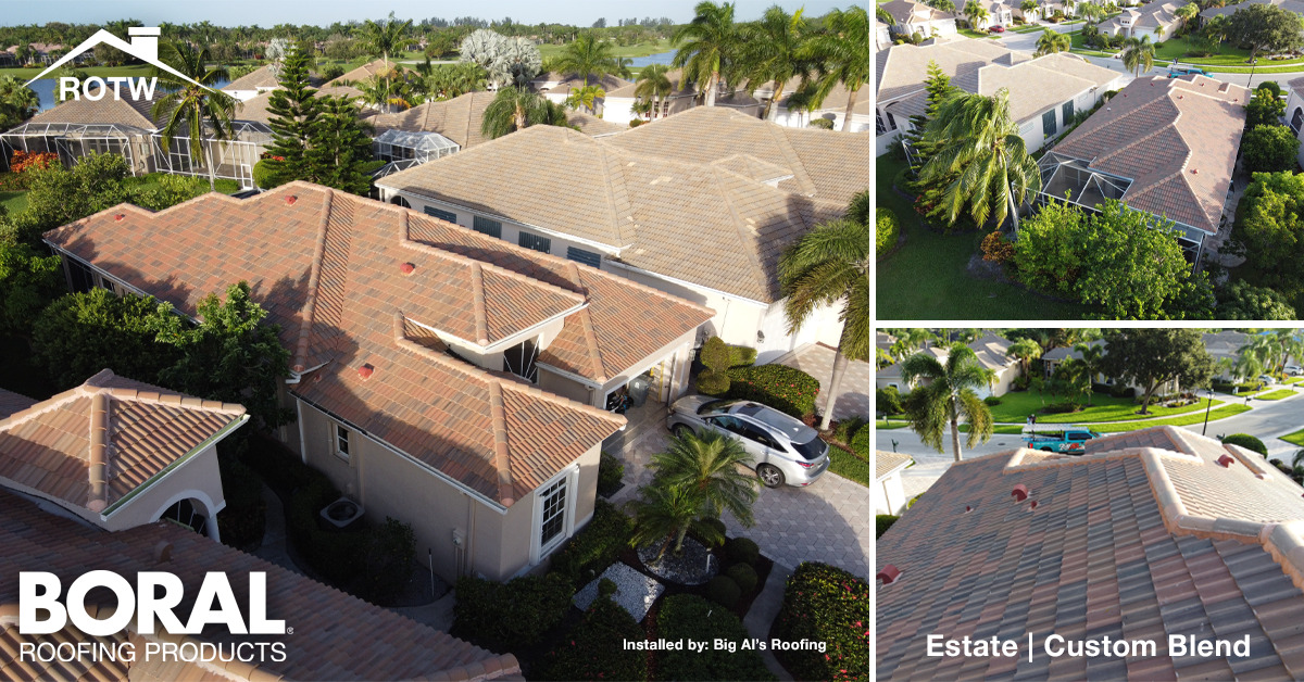 To display the custom blend of Boral Roofing's Estate Concrete Roof Tile product installed by Big Al's Roofing in Florida
